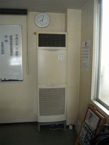 2. 既設エアコン室内機 現状の取付状況です。