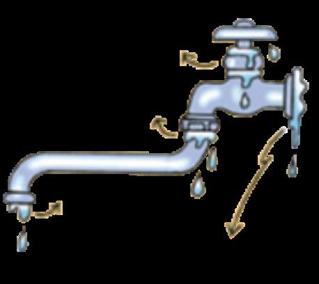 蛇口の水漏れ可能箇所②